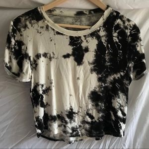 PACSUN ME TO WE B&W TIE DYE CROP TOP (#0040)